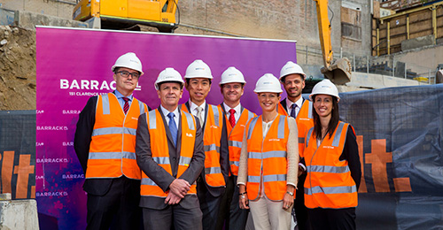 Construction Advances on Investa Office Fund's Progressive Barrack Place